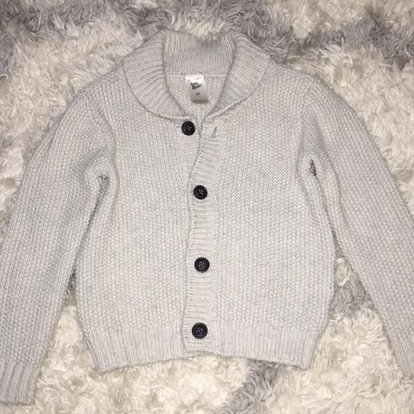 OshKosh B/'Gosh Little Girls Navy White Polka-Dot Knit Cardigan Button Sweater